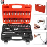 Wholesale 46pcs/set 1/4 Inch Automobile Motorcycle Car Repair Tool Precision Socket Wrench Set Ratchet Torque Wrench Combo Kit for Auto Repairing