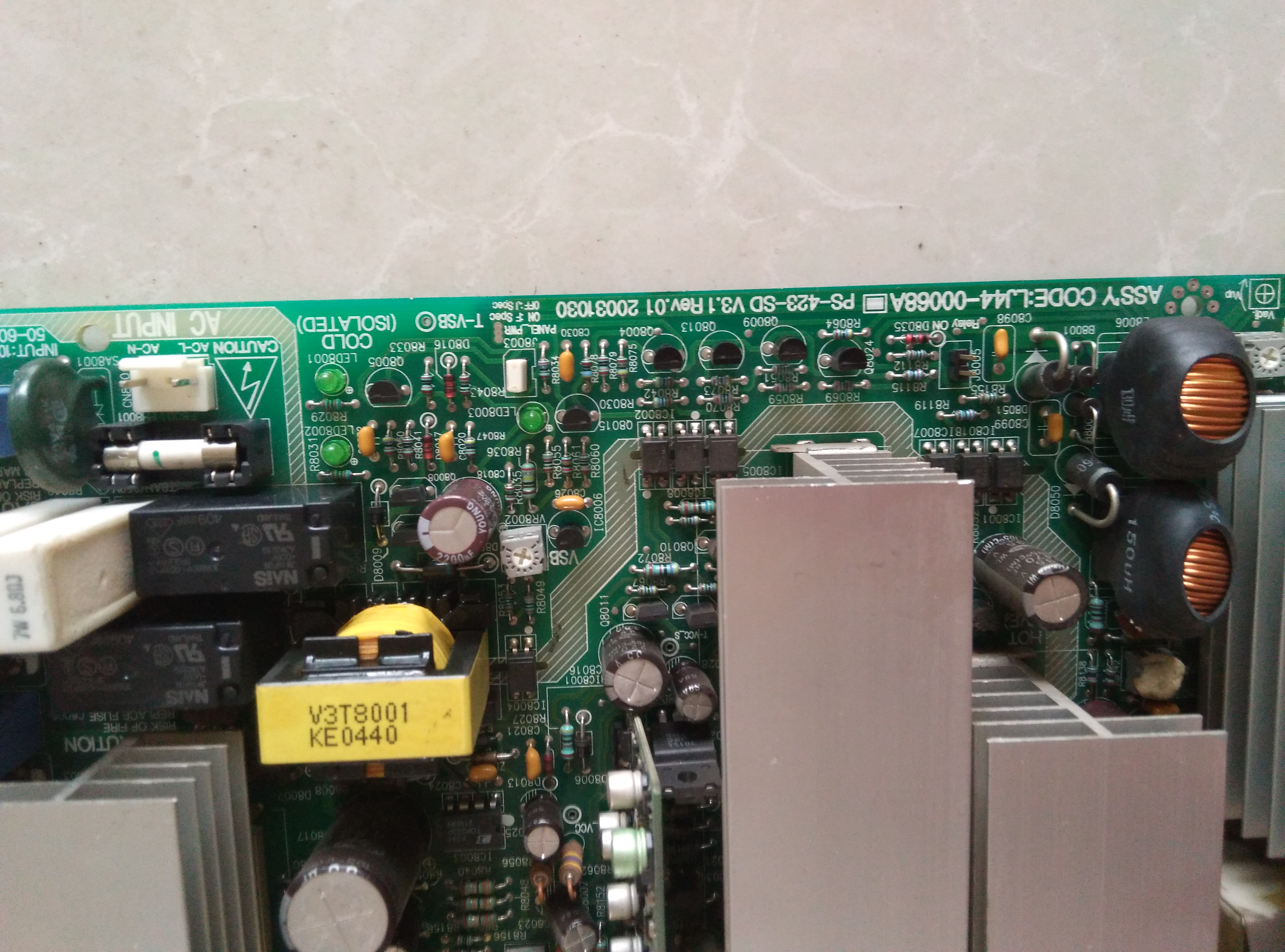 Samsung LJ44-00068A  PS-423-SD,UL6500 Power board Supply